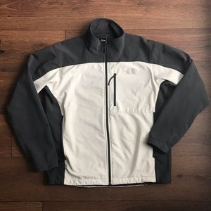 Men's The North Face Gray Tan Zip Up Jacket Coat